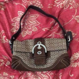 Coach brown canvas bag